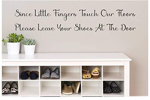 Schoenen uit sinds kleine vinger raken onze vloeren laat uw schoenen op de deur Kids Vinyl Decal Home Muursticker Home Decor