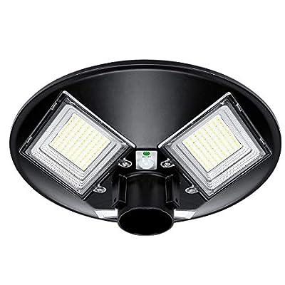 LEDMO 120W Solar Lights Outdoor, 3 Optional Modes Wireless Motion Sensor Light, IP65 Waterproof Security Lights 12800Lm 5000K LED Area Pole Light Street Parking lot Lighting