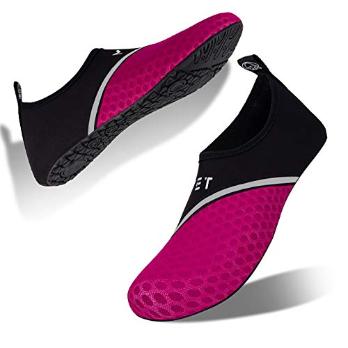 Badeschuhe Strandschuhe Wasserschuhe Aquaschuhe Schwimmschuhe Surfschuhe Wassersport Beach Pool Surfen Yoga für Damen Herren, Xb.deep Red, 33/34 EU (Asian: 34/35)