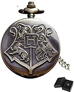 Harry Potter Antique Analog Pocket Watch Collection | Quartz Vintage FOB Timepiece | Fascinating Present