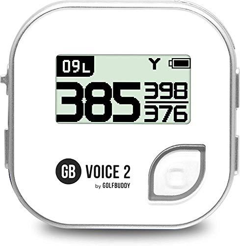 GolfBuddy Unisex-Adult VOICE2 Golf GPS, Silber, Einheitsgröße