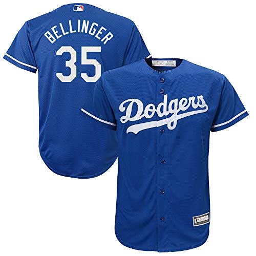 Outerstuff Cody Bellinger Los Angeles Dodgers MLB Boys Kids 4-7 Player Jersey (Blue Alternate, Kids 7)