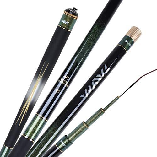 BAIYAN Canne da Pesca, Piste da Pesca Canna da Pesca Carbon Carbon Taiwan Rod Asta da Pesca Asta Ultra Light Super Hard Pesca Canna da Pesca Canna da Pesca (Dimensioni: 3.6 Metri) (Size : 5.4 Meters)