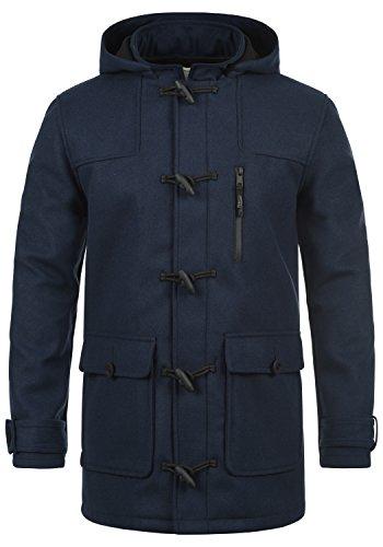 Redefined Rebel Mozart Herren Winter Mantel Dufflecoat Wollmantel Lange Winterjacke mit Stehkragen, Größe:XXL, Farbe:Navy