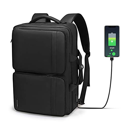 Multifunctional Business Laptop Backpack,Business Travel Backpack Bag with USB Charging Port,Top-Handle Bags/Crossbody/Backpack 3 in 1 Water Resistant Student Daypack Fits 15.6 Inch Laptop