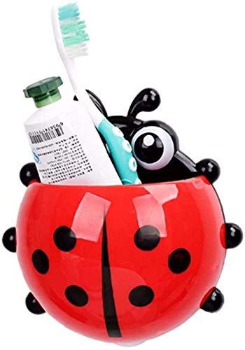 hwljxn Cartoon-Marienkäfer-Zahnbürstenhalter-Zahnpasta-Bade-Gadgets-Speicherorganisator mit Saugnapf Zufällige Farbe
