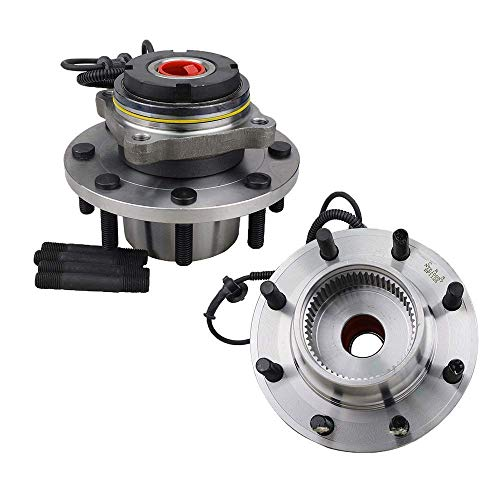Bodeman - Pair Front Wheel Bearing and Hub Assemblies (M14, Coarse Thread, 8 Stud) for 2000-2004 Ford F-250, F-350, F-450 Super Duty - DRW 4x4 Models ONLY