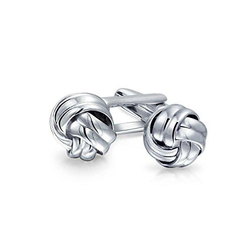 Executive Runde Ball Gewebte Borte Twist Kabel Seil Knoten Manschettenknöpfe Für Herren Sterling Silber Scharnier Zurück