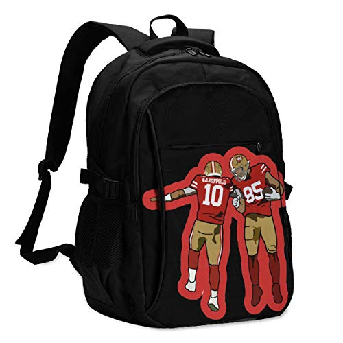 George Kittle San Francisco 49ers A Stylish Backpack with A USB Charging Port, A Novel Design Concept is Worthy of Your Possession