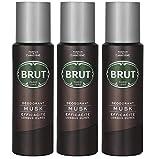 Brut Desodorante Body Spray almizcle largo duree 200ml (3unidades)