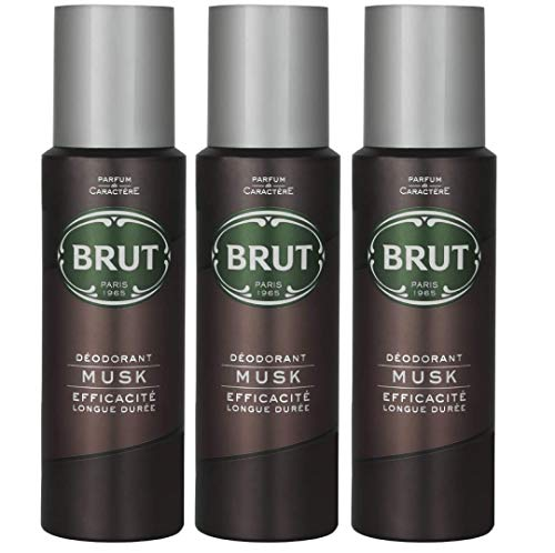 Brut Desodorante Body Spray almizcle largo duree 200 ml (3 unidades)