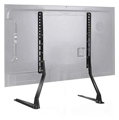 Soporte de TV de Sobremesa Universal Para Pantalla Plana, Soporte de Base de Pata Ajustable en Altura Premium Con Capacidad Para Hasta 110 Libras ( Color : Black , Size : 17.52 x 3.62 x 3.11 cm )