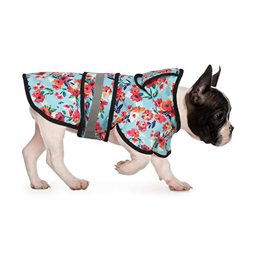 HDE Dog Raincoat Hooded Slicker Poncho for Small to X-Large Dogs and Puppies (Turquoise, Medium)