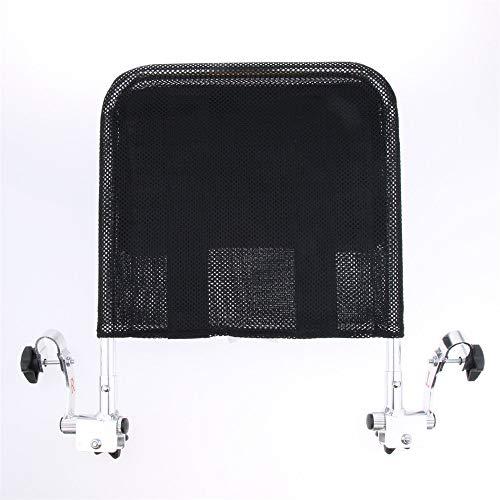 JFJL Universal Kopfstütze für Rollstuhl,Tragbare Rollstuhl-Kopfstütze Hals Kopfstütze Verstellbare Polsterung für Erwachsene Universal-Rollstuhlzubehör für 16-20 Zoll,Black