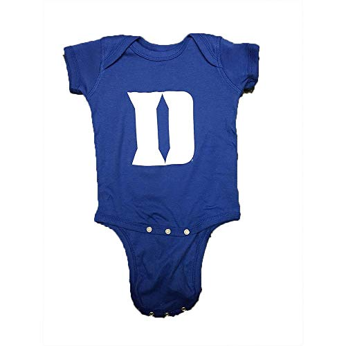 Outerstuff Duke Blue Devils Baby Boys S/S Team Logo Creeper Onesie (24M)
