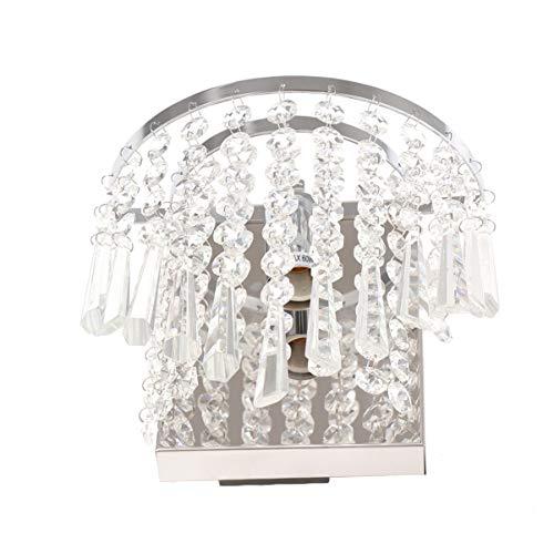 ibasenice Lámpara de Pared LED de Cristal Lámpara de Pared Lámpara de Techo Moderna Lámpara de Noche para Decoración de Pasillo de Dormitorio de Sala de Estar (Sin Bombilla de Interruptor)