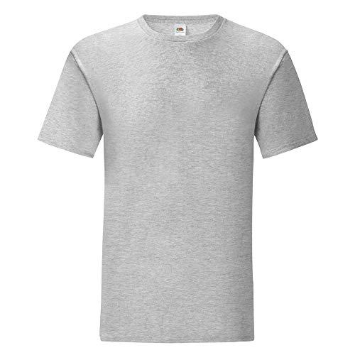 Fruit of the Loom - Camiseta emblemática de la Marca para Hombre Caballero (4XL) (Gris Jaspeado)