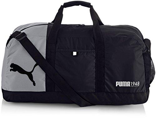 PUMA, Borsa sportiva Fundamentals Sports Bag, Nero (Black)