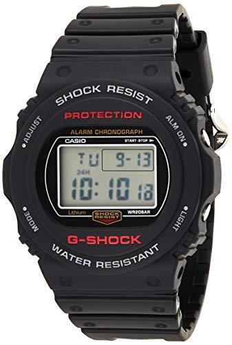 CASIO Herren Digital Quarz Uhr mit Harz Armband DW-5750E-1ER