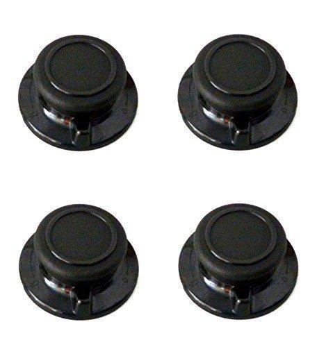 Poignée avec entlüftungsfunktion 4 pièces pour tous types de couvercles en verre, couvercle de poêle/couvercle cocotte-passe au four-passe au lave-vaisselle, résistant à la chaleur
