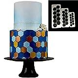 Schablonenformen Keksform Backformen3 Stücke Quadrat Geometrische Ausstecher Fondant Ausstecher Geometrie Kuchenform Fondantform Kuchen Dekorieren Tools Backen 6 Designs-In Kuchenformen
