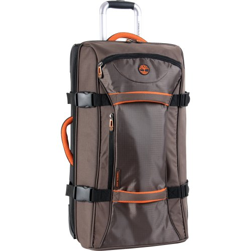 Timberland Wheeled Duffle Bag - Carry On 22 Inch Lightweight Rolling Luggage Overnight Travel Bag Suitcase for Men, Cocoa