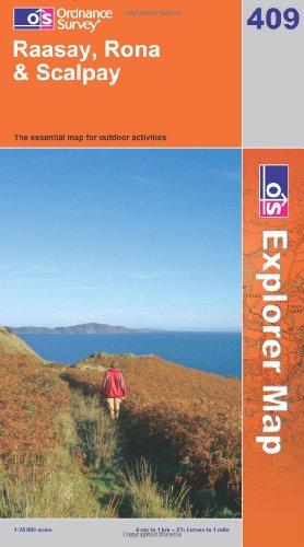 OS Explorer map 409 : Raasay, Rona & Scalpay