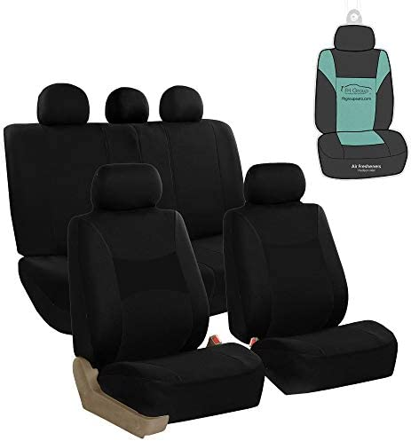 FH Group FB030115 Light Breezy Flat Cloth Full Set Car Seat Covers Set Airbag Split Ready w product image