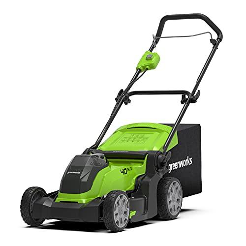 Greenworks Tools Tosaerba a Batteria G40LM41,Li-Ion 40 V, Larghezza Taglio 41 cm, fino a 600 m², 2 in 1 Pacciamare e Rasare, 50 L Cesto Erba