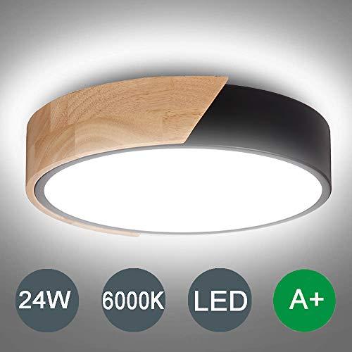 Kambo LED Lámpara de Techo Moderna Plafon Techo Led 24W Redondo Para Techo 2400LM Blanco Frío 6000K Para Habitacion Cocina Sala de Estar Dormitorio Pasillo Comedor Balcón