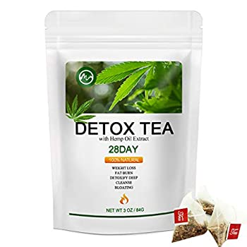 Detox Tea for Body Cleanse - M inch Weight Loss Tea for Belly Fat Natural Ingredient Skinny Diet Tea for Women & Men - 28 Days