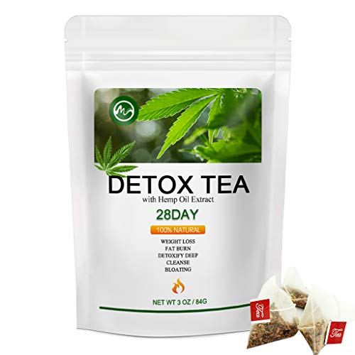 Detox Tea for Body Cleanse - M inch 28 Days Weight Loss Tea for Belly Fat, Natural Ingredient Skinny Diet Tea for Women & Men - 28 Days