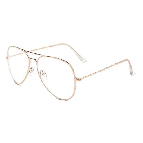 6776772ad44 Outray Classic Metal Frame Clear Lens Glasses 2167c2 Gold