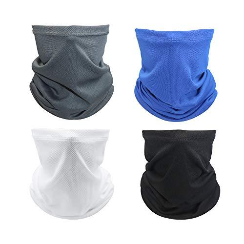 Aotlet 4 Piezas Multifunción Bufanda Bandana Elastica Pañuelos Cabeza Unisex Calentador de Cuello Pasamontañas UV Protección Máscara Facial para Hombre Mujer Esquiar Motocicleta Ciclismo Motorista