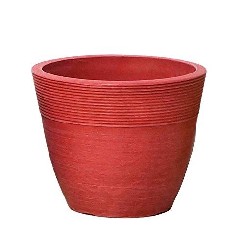 【Planterior】 ハイドロカルチャーに の鉢 ストーンウッドポット M 各色 (ピンク)