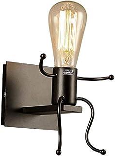 KAWELL Créatif Rétro Applique Murale Intérieur Vintage Lampe Murale Industriel Lampe de Mur Fer à Repasser Art Déco E27 Ba...
