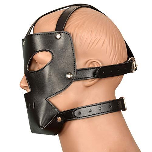 ZZDD FlExyh Paar Rollenspiel Spielzeug männlich atmungsaktiv Kopf Ärmel hohl Schwarze Maske verstellbare Schnalle T-Shirt Sunglasses Raincoat