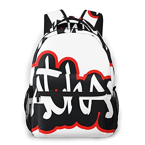 MTevocon Rucksack für Teens Herren Damen Aufbewahrungspaket,Nathan Graffiti Schriftart Name Hip-Hop D, Business Casual Schultasche Reise-Laptop-Tagesrucksack
