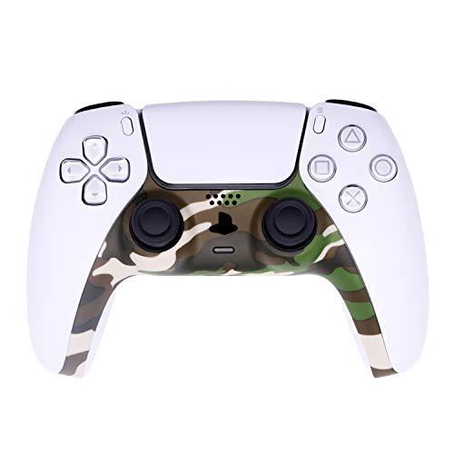 [Versão atualizada] Faixa decorativa para controle PS5 Dualsense, Ackmioxy DIY controlador PS5 substituição cor reposição acessórios de decoração para painel controlador PS5 (verde camuflagem)
