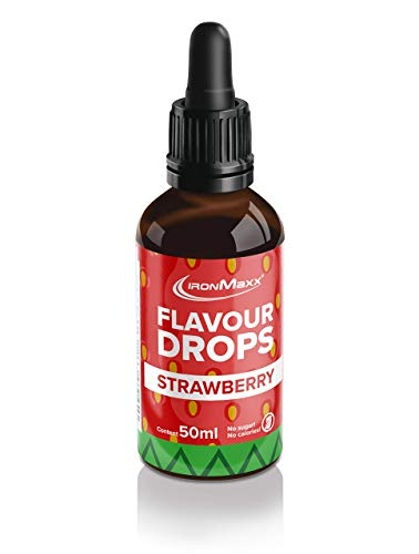 IronMaxx Flavour Drops - Flasche - Erdbeere, 50 ml
