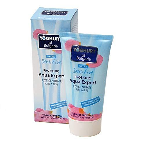 Aqua Expert - Concentrado hidratante con probióticos, urea 8% y aceite de rosa - Crema facial y corporal para pieles muy sensibles 150 ml