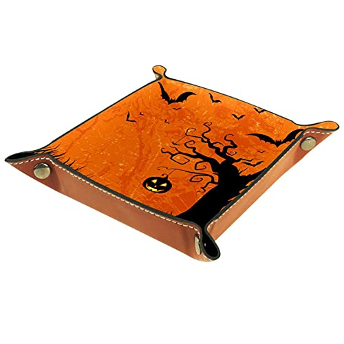 Grunge Style Halloween-01 resetjänst bricka för nyckel, telefon, mynt, plånbok, klockor, etc