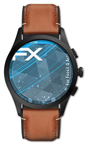 atFoliX Schutzfolie kompatibel mit Fossil Q Activist Folie, ultraklare FX Bildschirmschutzfolie (3X)