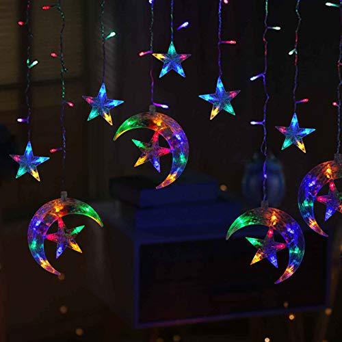 AHNNER Star 138 LED Sterne Mond Vorhang...