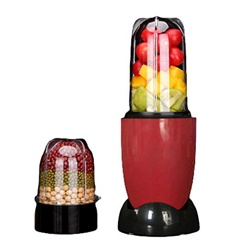 Qinmo Exprimidoras, Smoothie Blender Pequeño mini portátil fabricante de batido y mezclador Familia Personal Blender trituradora de hielo, Chopper, molinillo de café y Smoothie Maker, 2 Copas de 2 cuc