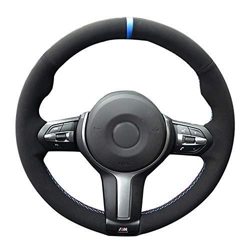 ZYTB DIY schwarz Auto lenkradabdeckung für BMW f87 m2 f80 m3 f82 m4 m5 f12 f13 m6 f85 x5 m f86 x6 m f33 f30 m Sport,Gray Thread
