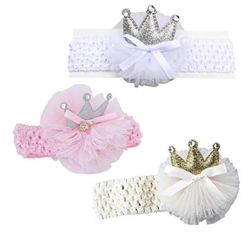 Amosfun 3 stks Headdress Creatieve Kristallen Kroon Aanbiddelijke Haaraccessoires Haarband Photo Props Headdress voor Baby Baby Baby Baby