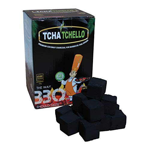 Gartinex Premium Kokosnuss Briketts Kokos Kohle 1kg für Tischgrill Shisha Wasserpfeife Grill