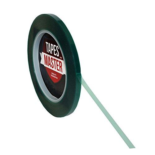"3/8"" X 36 Yds - 2 Mil Green Powder Coating Masking Tape - High Temperature"