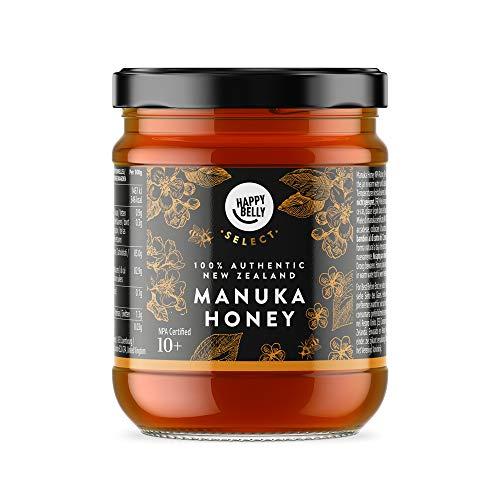 Marca Amazon - Happy Belly Select Miel de manuka 10+, 340gr - MGO 261